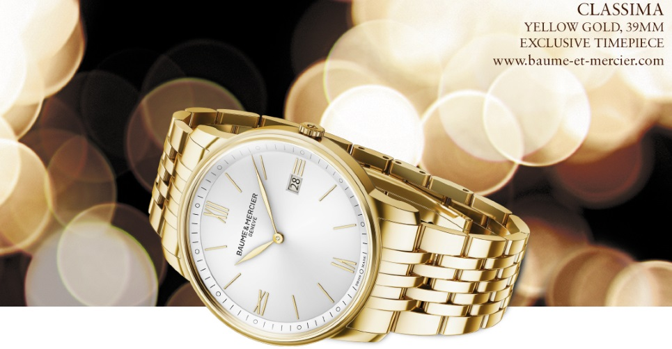 Exclusive gold watch