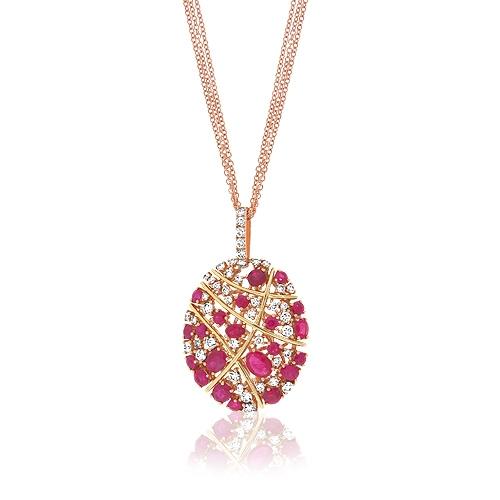 Diamond ruby cluster pendant simpsonjewelers alternate views aloadofball Images