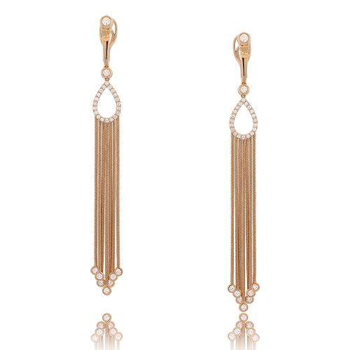 Long Rose Gold Dangle Earrings  b919b72ef0e5